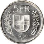 Switzerland / Five Francs 1950 - reverse photo