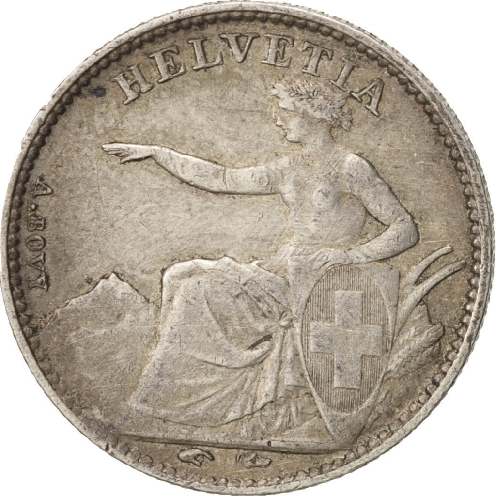 Half Franc: Photo Coin, Switzerland, 1/2 Franc, 1851