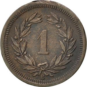 Switzerland / One Centime (Rappen) 1877 - reverse photo