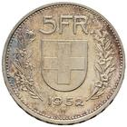 Switzerland / Five Francs 1952 - reverse photo