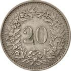 Switzerland / Twenty Centimes (Rappen) 1945 - reverse photo