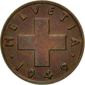 Switzerland / One Centime (Rappen) 1949 - obverse photo