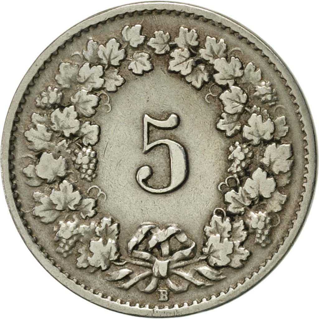 Five Centimes (Rappen) 1921: Photo Coin, Switzerland, 5 Rappen 1921
