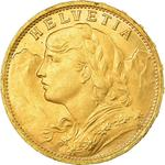Switzerland / Twenty Francs 1925 - obverse photo
