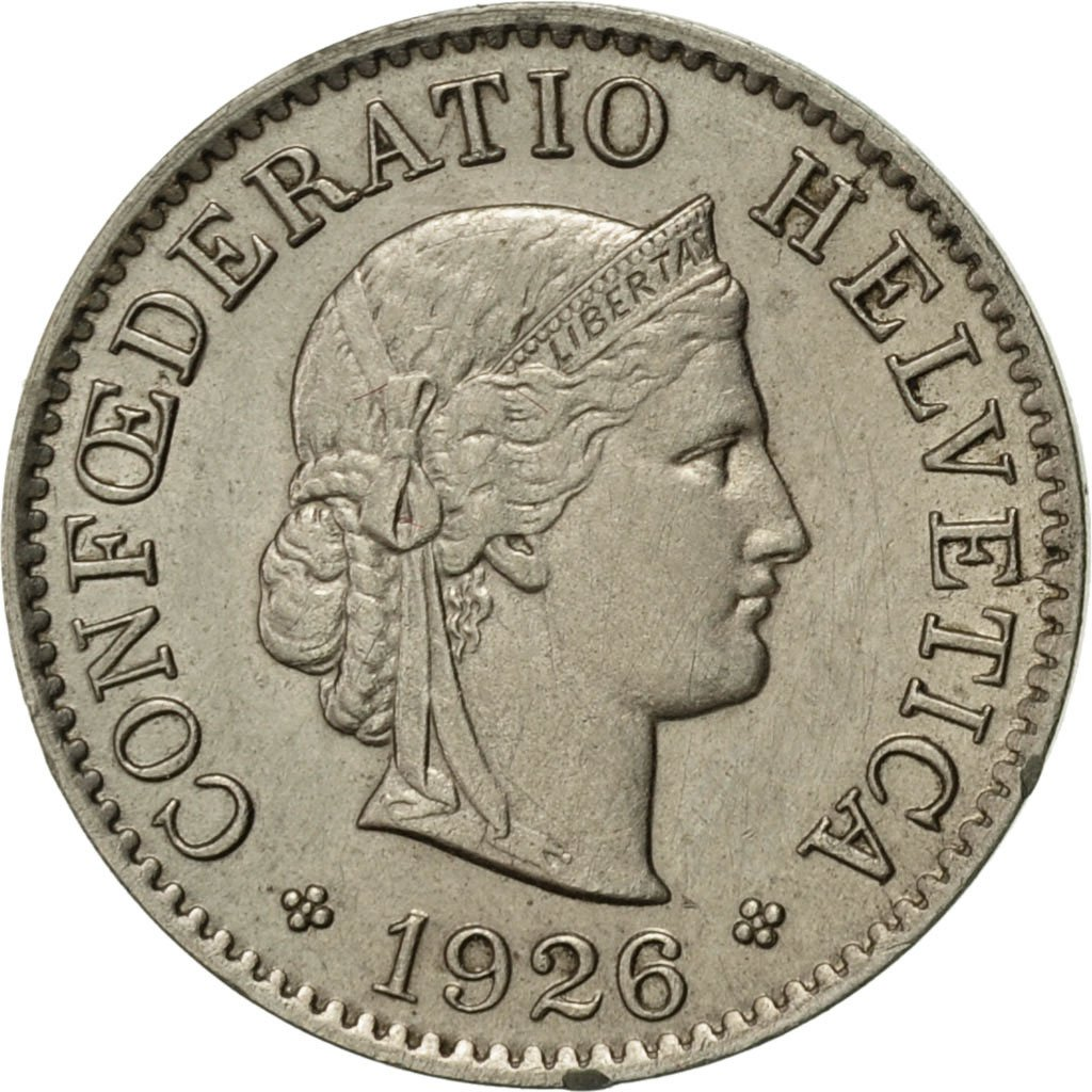 Five Centimes (Rappen) 1926: Photo Coin, Switzerland, 5 Rappen 1926
