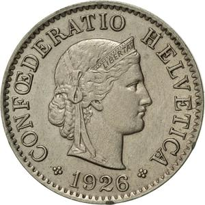 Switzerland / Five Centimes (Rappen) 1926 - obverse photo