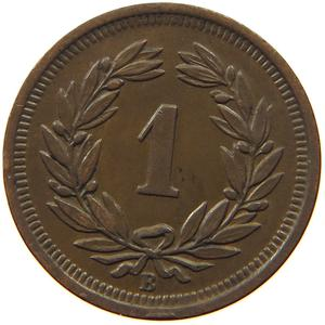Switzerland / One Centime (Rappen) 1926 - reverse photo
