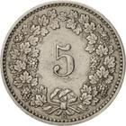 Switzerland / Five Centimes (Rappen) 1902 - reverse photo