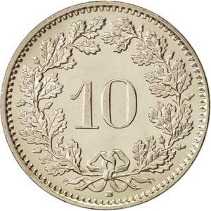 Switzerland / Ten Centimes (Rappen) 2005 - reverse photo