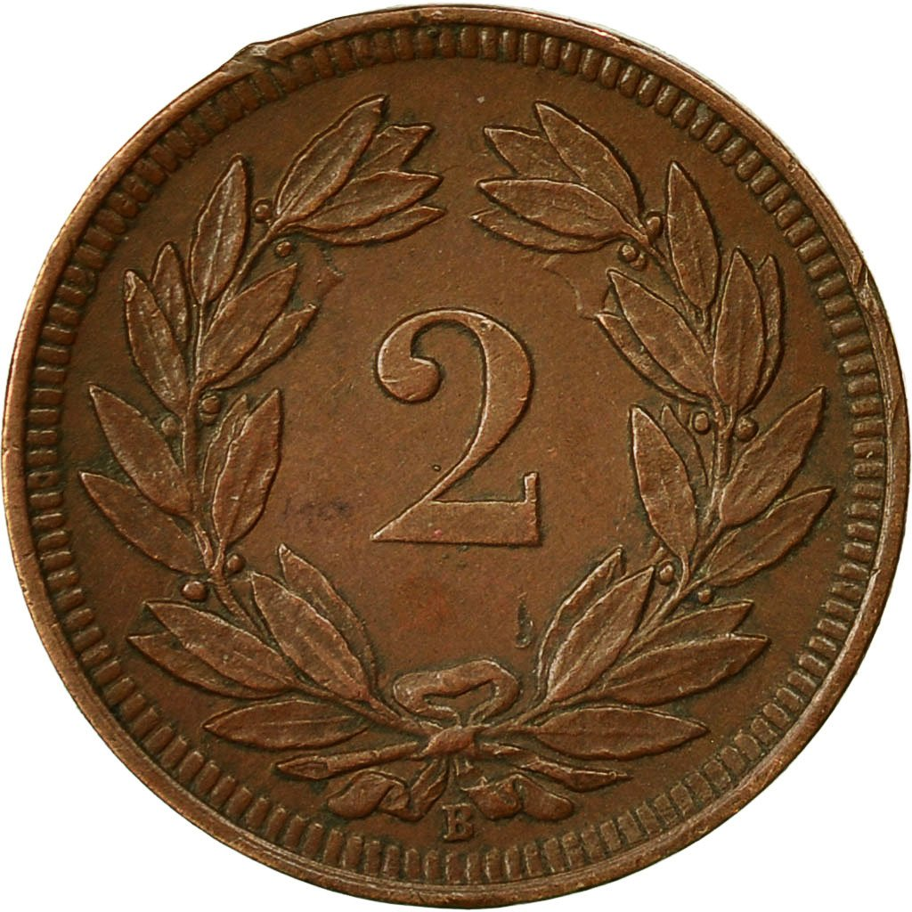Two Centimes (Rappen) 1909: Photo Coin, Switzerland, 2 Rappen 1909