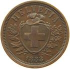 Switzerland / Two Centimes (Rappen) 1883 - obverse photo