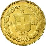 Switzerland / Twenty Francs 1895 - reverse photo