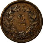 Switzerland / Two Centimes (Rappen) 1875 - reverse photo