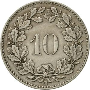 Switzerland / Ten Centimes (Rappen) 1929 - reverse photo
