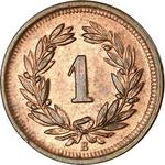 Switzerland / One Centime (Rappen) 1900 - reverse photo