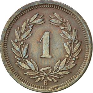 Switzerland / One Centime (Rappen) 1895 - reverse photo