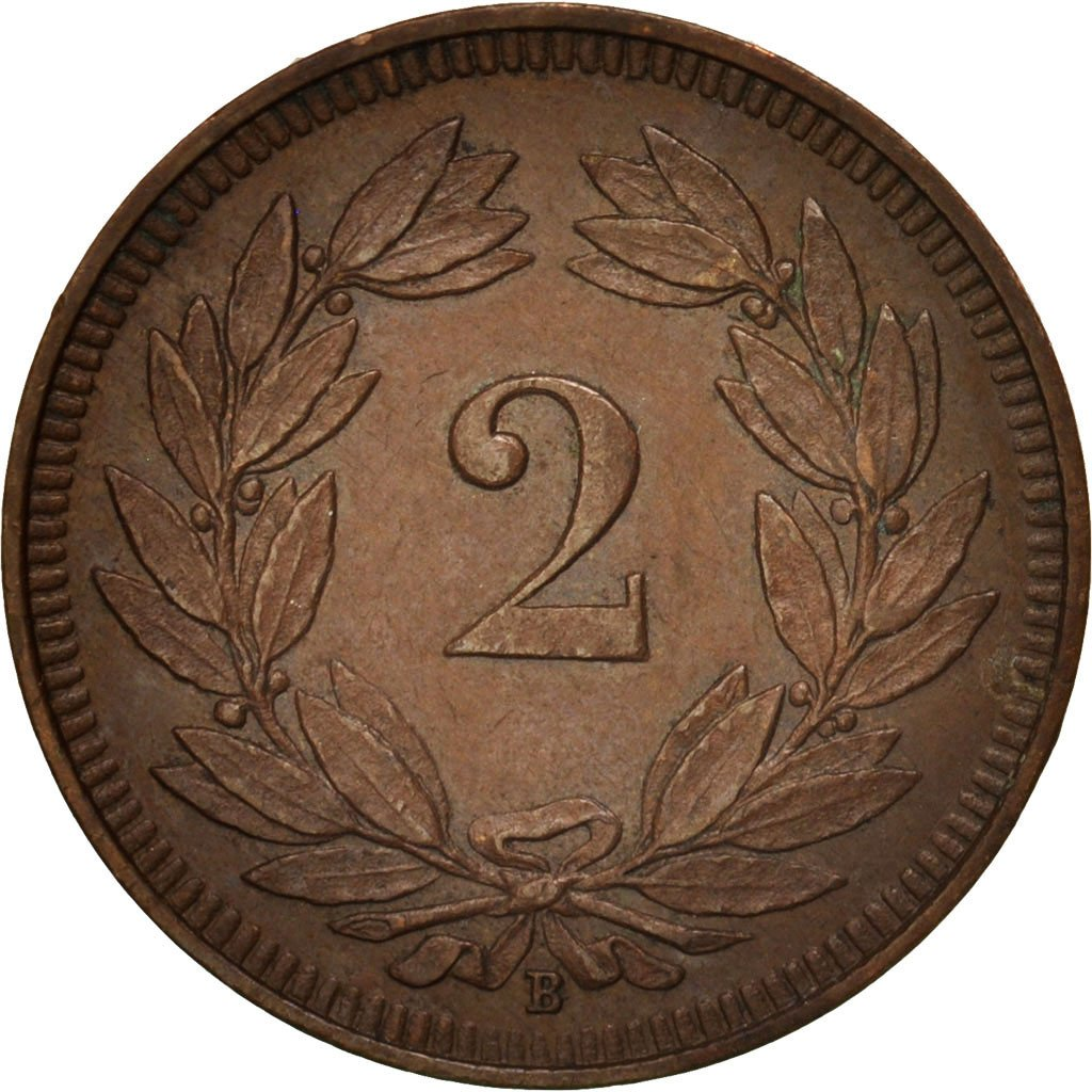 Two Centimes (Rappen) 1914: Photo Coin, Switzerland, 2 Rappen 1914
