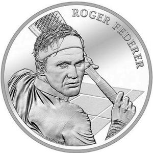 Switzerland / Twenty Francs 2020 Roger Federer - reverse photo
