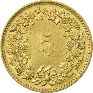 Switzerland / Five Centimes (Rappen) 1983 - reverse photo