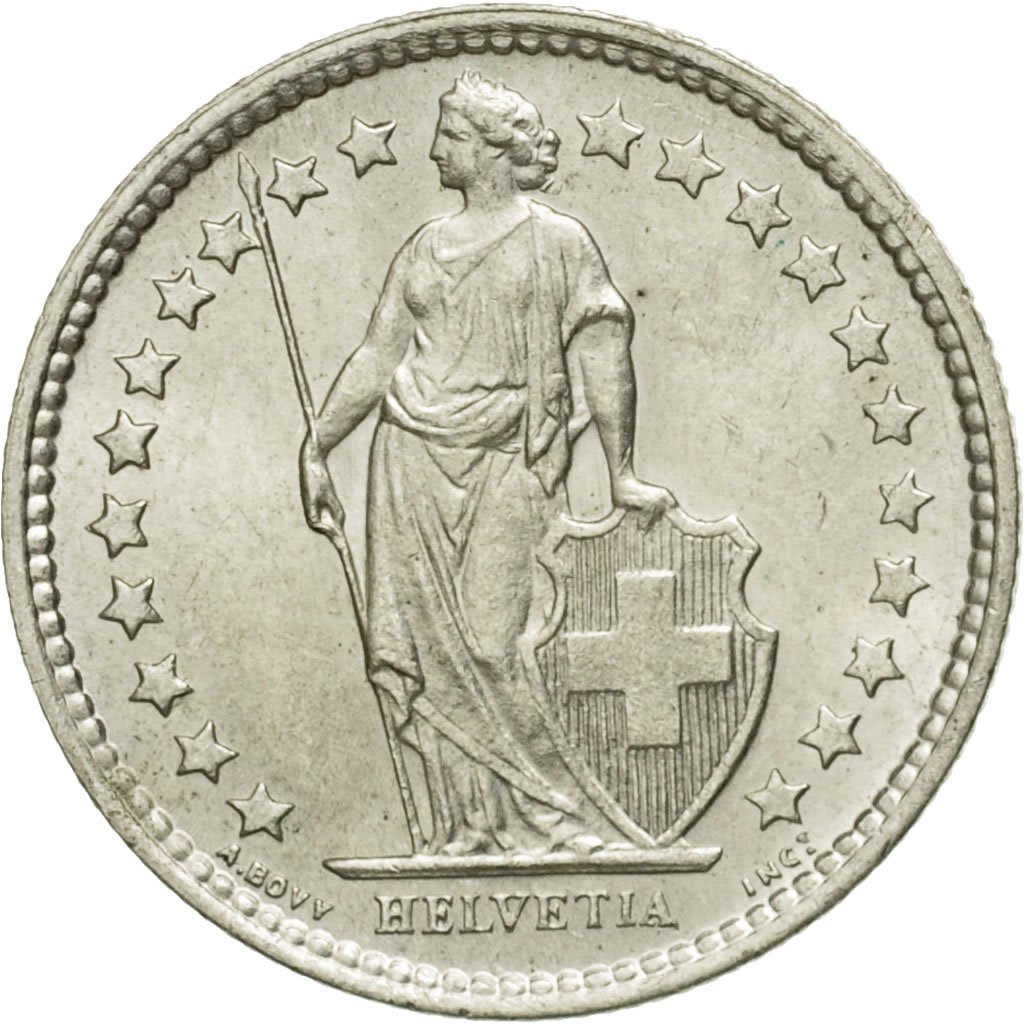 Half Franc: Photo Coin, Switzerland, 1/2 Franc, 1957