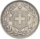 Switzerland / Five Francs 1896 - reverse photo