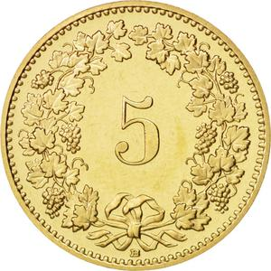 Switzerland / Five Centimes (Rappen) 1996 - reverse photo