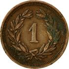 Switzerland / One Centime (Rappen) 1932 - reverse photo