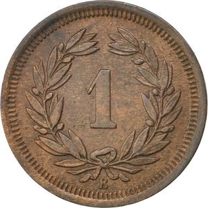 Switzerland / One Centime (Rappen) 1879 - reverse photo