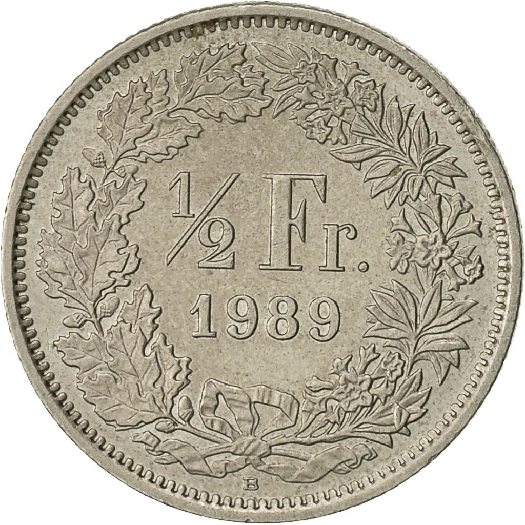 Half Franc 1989: Photo Coin, Switzerland, 1/2 Franc, 1989