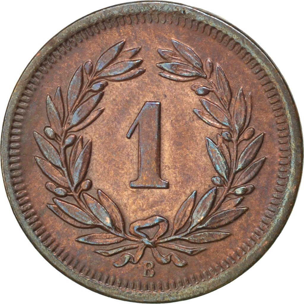 One Centime (Rappen) 1906: Photo Coin, Switzerland, Rappen 1906