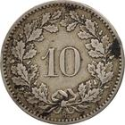 Switzerland / Ten Centimes (Rappen) 1885 - reverse photo