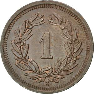 Switzerland / One Centime (Rappen) 1910 - reverse photo