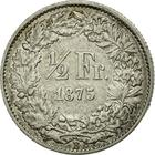 Switzerland / Half Franc 1875 - reverse photo