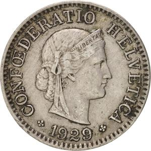 Switzerland / Five Centimes (Rappen) 1929 - obverse photo