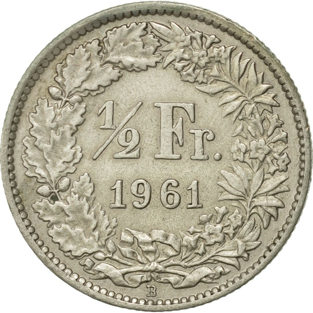 Half Franc 1961: Photo Coin, Switzerland, 1/2 Franc, 1961