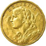 Switzerland / Twenty Francs 1910 - obverse photo