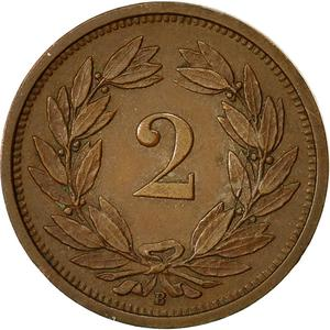 Switzerland / Two Centimes (Rappen) 1931 - reverse photo
