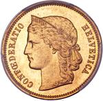 Switzerland / Twenty Francs 1887 - obverse photo
