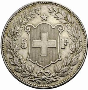 Switzerland / Five Francs 1912 - reverse photo