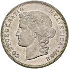 Switzerland / Five Francs 1888 - obverse photo