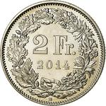 Switzerland / Two Francs 2014 - reverse photo