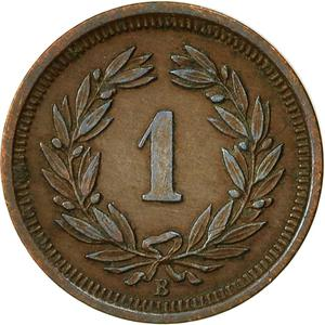Switzerland / One Centime (Rappen) 1883 - reverse photo