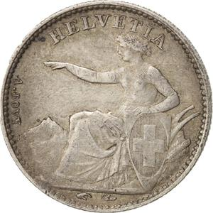 Switzerland / Half Franc, Seated Helvetia - obverse photo