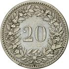 Switzerland / Twenty Centimes (Rappen) 1885 - reverse photo