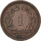 Switzerland / One Centime (Rappen) 1892 - reverse photo