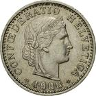Switzerland / Twenty Centimes (Rappen) 1988 - obverse photo