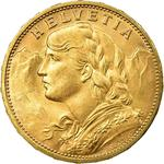 Switzerland / Twenty Francs 1913 - obverse photo