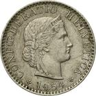 Switzerland / Twenty Centimes (Rappen) 1954 - obverse photo