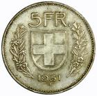 Switzerland / Five Francs 1951 - reverse photo