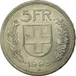 Switzerland / Five Francs 1995 - reverse photo